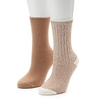 Women's SONOMA Goods for Life™ 2 pkRibbed Crew Socks