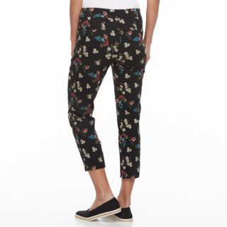 Petite Briggs Slimming Floral Ankle Pants