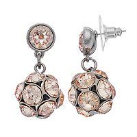 Simply Vera Vera Wang Pink Fireball Nickel Free Drop Earrings