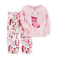 Girls 4-14 Carter's Mouse Stocking Top & Print Pants Pajama Set