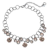 Simply Vera Vera Wang Pink Fireball Circle Link Necklace