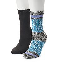 Women's SONOMA Goods for Life™ Slubbed Marled Colorblock Crew Socks