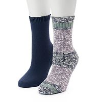 Women's SONOMA Goods for Life™ Slubbed Marled Colorblock Crew Socks