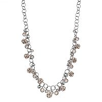 Simply Vera Vera Wang Long Shaky Pink Fireball Necklace
