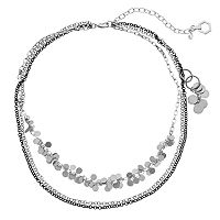 Simply Vera Vera Wang Shaky Disc Multi Strand Necklace