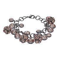 Simply Vera Vera Wang Shaky Pink Fireball Bracelet
