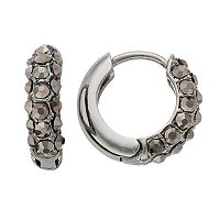 Simply Vera Vera Wang Pave Nickel Free Huggie Hoop Earrings