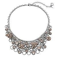 Simply Vera Vera Wang Pink Fireball Statement Necklace
