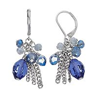 Simply Vera Vera Wang Blue Beaded Cluster Nickel Free Drop Earrings