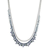 Simply Vera Vera Wang Long Blue Beaded Necklace