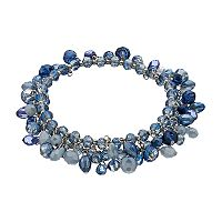 Simply Vera Vera Wang Blue Shaky Bead Coil Bracelet