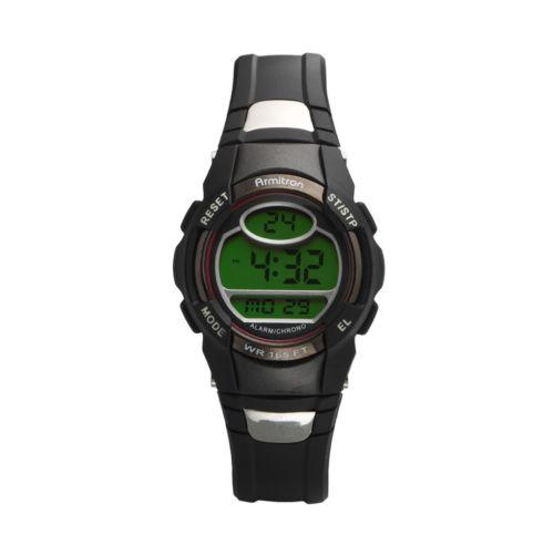 Armitron Watch - Women's Black Resin Digital Chronograph