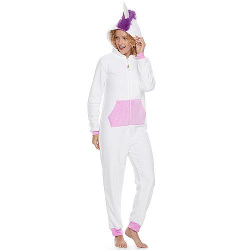 0fbc7be33092 Juniors  SO® Unicorn Costume One-Piece Pajamas