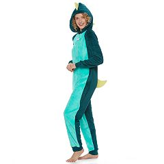Juniors' SO® Dinosaur Costume One-Piece Pajamas