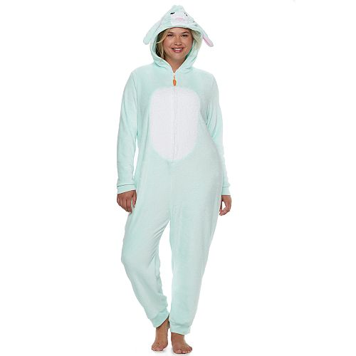 7a75a53ccb65 Juniors  Plus Size SO® Bunny Costume One-Piece Pajamas