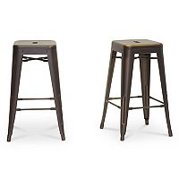 Baxton Studio Industrial Counter Stool 2-piece Set