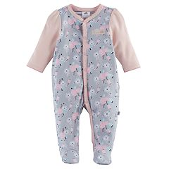 Baby Girl Just Born Floral Scalloped Sleep & Play