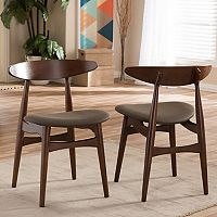 Baxton Studio Flamingo Mid-Century Dining Chair 2-piece Set