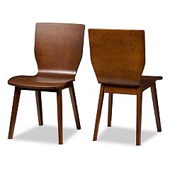 Baxton Studio Elsa Mid-Century Dining Chair 2-piece Set