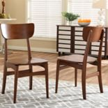 Baxton Studio Netherlands Mid-Century Dining Chair 2-piece Set