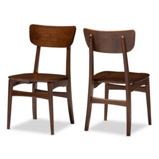 Baxton Studio Netherlands Mid-Century Dining Chair 2-piece Set