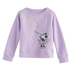 Disney's Minnie Mouse Toddler Girl Paint Splatter Graphic Pullover Sweatshirt by Jumping Beans®