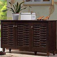 Baxton Studio Winda Window Pane Storage Cabinet