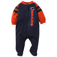 Baby Chicago Bears Footed Bodysuit