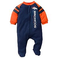 Baby Denver Broncos Footed Bodysuit