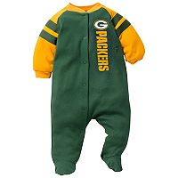 Baby Green Bay Packers Footed Bodysuit
