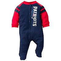 Baby New England Patriots Footed Bodysuit
