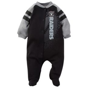 Baby Oakland Raiders Footed Bodysuit