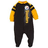 Baby Pittsburgh Steelers Footed Bodysuit