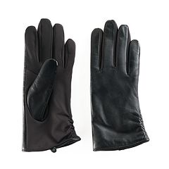 Women's Apt. 9® Ruched Leather Tech Gloves