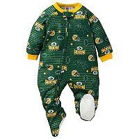 Baby Green Bay Packers Footed Pajamas