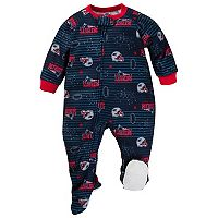 Baby New England Patriots Footed Pajamas