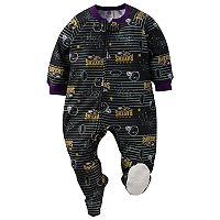 Baby Baltimore Ravens Footed Pajamas