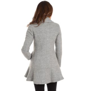 Women's Fleet Street Flounce Wool-Blend Coat