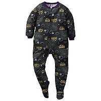 Toddler Baltimore Ravens Footed Pajamas
