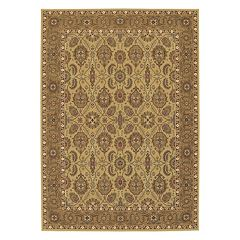 Couristan Royal Kashimar All-Over Vase Framed Floral Wool Rug