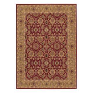 Couristan Royal Kashimar All-Over Vase Framed Floral Wool Rug