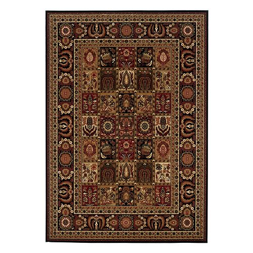 Couristan Royal Kashimar Antique Nain Framed Floral Wool Rug