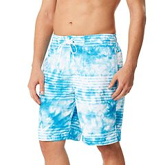 Men's Speedo Mistyblur Striped Board Shorts