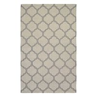 Couristan Super Indo-Natural Gypsum Trellis Wool Rug