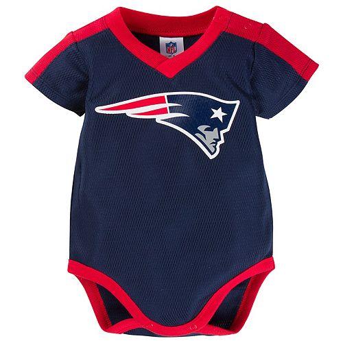 Baby New EnglandPatriots Jersey Bodysuit