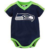 Baby Seattle Seahawks Jersey Bodysuit