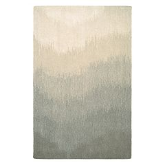 Couristan Super Indo-Natural Neutral Ombre Wool Rug