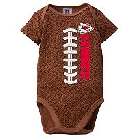 Baby Kansas City Chiefs Football Bodysuit