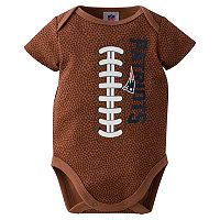 Baby New England Patriots Football Bodysuit