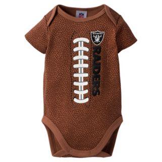 Baby Oakland Raiders Football Bodysuit